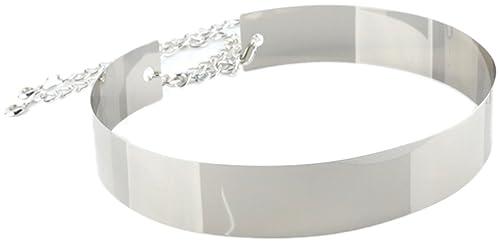 MYWY - Cinta metallo donna cinture oro argento rigida cm 4,5 girovita cm 72 - cm 94