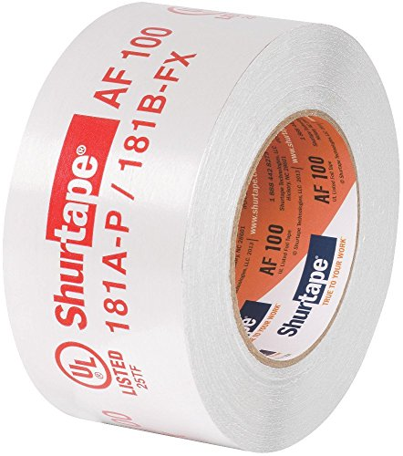 Shurtape AF 100 UL 181A-P/B-FX Listed/Printed Aluminum Foil HVAC Tape with EasyPeel Paper Liner, HVAC Joint Sealing Tape, 2.5'' x 60 Yards, Silver, 1 Roll (155206) by Shurtape (Image #1)