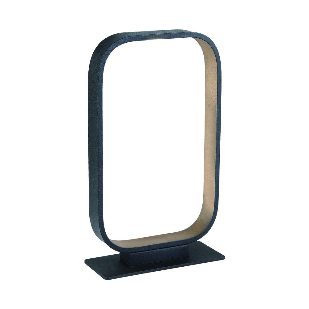 Lcaoful Modern Artwork Frame LED Bedside Table & Desk Lamp,Led Modern Nightstand Table Lamp, 5W 400LM Reading Room Reading Lamp Aluminum Body with Matt Black & Golden Finish