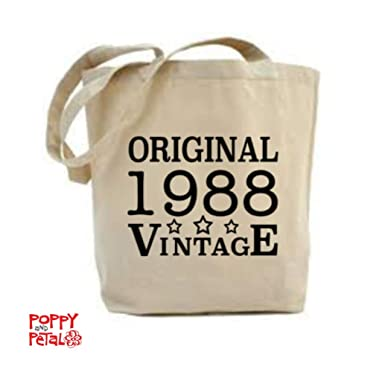 30th Birthday Tote Bag 1988 Gift Idea Present