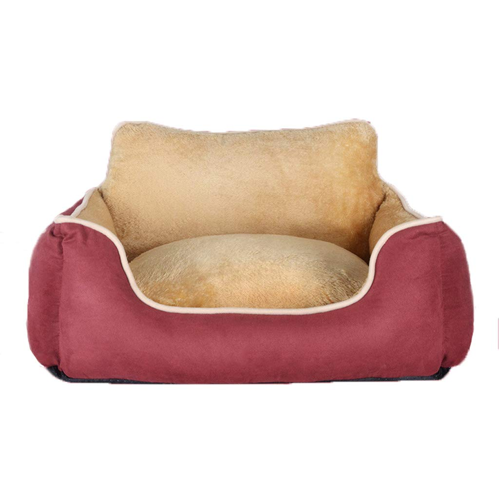 Red L red L WANGXIAOLIN Dog Bed, Cat Nest, Pet Supplies, Semi-closed Cat Litter, Doghouse, Four Seasons (color   RED, Size   L)