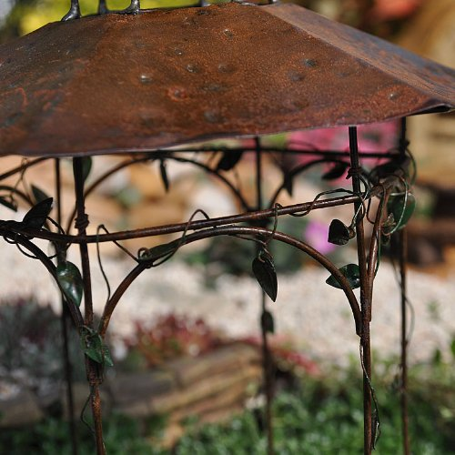 Miniature Fairy Garden Orchard Pavilion, Rustic