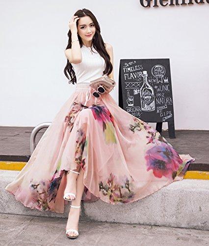 Shineflow - Falda - Manga Larga - para mujer rosa claro