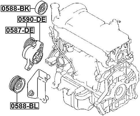 Zj3815980C Zj38-15-980C Tensioner Assembly For Mazda