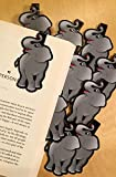 Elephant Bulk Bookmarks for Kids Girls Boys - Set of 10 - Perfect for School Student Incentives Birthday Party Supplies Reading Incentives Party Favor Prizes Classroom Reading Awards!
