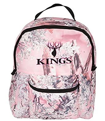 King s Hunter Junior 25-Degree Sleeping Bag, Pink Pink Shadow Camo Accents