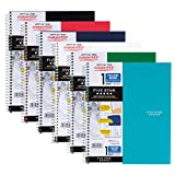 "Five Star Spiral Notebook, 1 Subject, College Ruled, 11"" x 8-1/2"", Assorted Designs, 6 Pack (38840)"