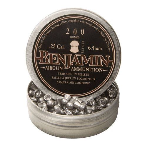 Benjamin Sheridan BD225, Domed Pellets.25 Caliber, 27.9 Grains, (Per 200)
