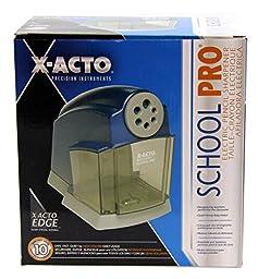X-ACTO SchoolPro Classroom Electric Pencil Sharpener, Heavy Duty, Blue/Grey