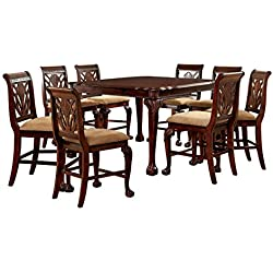 Furniture of America Bonaventure 9-Piece Traditional Style Pub Dining Set
