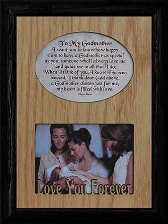 Amazon.com : TO MY GODMOTHER Laser & Poetry Frame ~ Wonderful ...