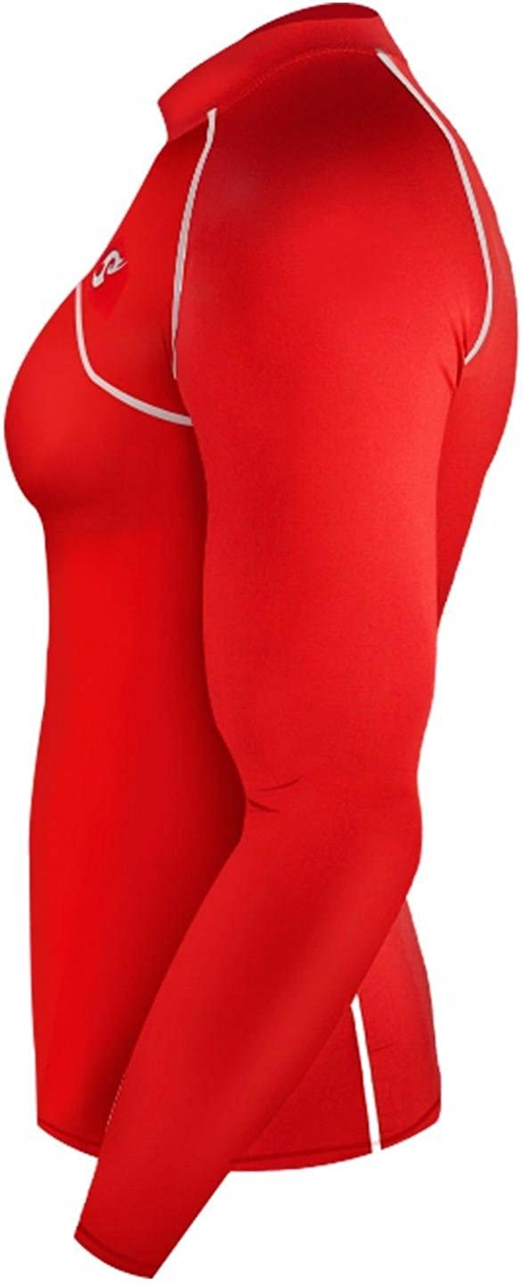 New 028 Winter Warm Skin Tight Compression Baselayer T Shirt Top Mens Red
