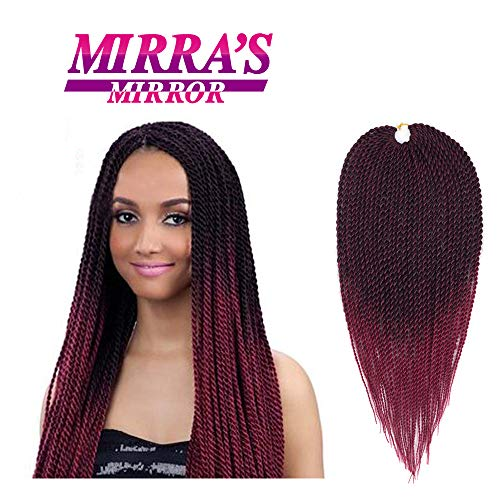 Mirra's Mirror (6Packs)14Inch Ombre Senegalese Box Braids Crochet Hair Braiding Hair Synthetic Mambo Twist Hair Extension 30Strands/Pack (Type Of Hair Used For Havana Twists)