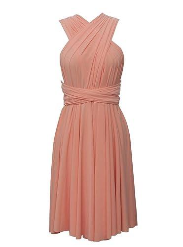 flowerry mujeres Spandex Convertible Dresse de dama boda vestido de fiesta
