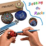 Meuxan 13 Piece Ball Stylus Dotting Tools, Clay Pottery Modeling Set, Rock Painting Kit