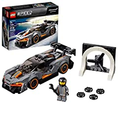 Drive on the edge with the LEGO Speed Champions 75892 McLaren Senna toy car for kids! This sleek LEGO version of the road car inspired by the late, great and legendarily daring racing driver Ayrton Senna features a minifigure cockpit, removab...