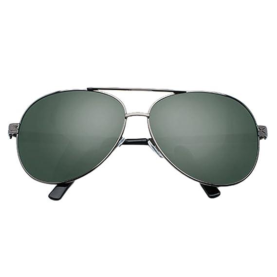 LINNUO Gafas de Sol Hombre Mujer Aviador Polarizadas Lentes Proteccion UV Para Drive Sunglasses Metálico Eyeglasses (#1Verde, One Size): Amazon.es: Ropa y ...