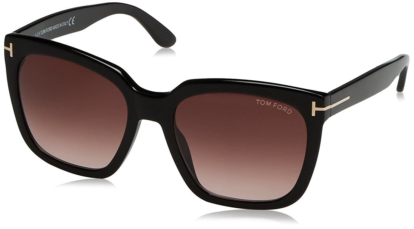 b4978b98a7d3 Amazon.com  Tom Ford 0502 01T Shiny Black Amarra Square Sunglasses Lens  Category 3 Size 55m  Tom Ford  Clothing