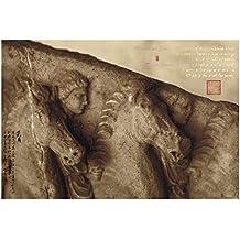Steven C. Rockefeller, Jr. with Chinese Artist Cao Jun Original Hand-Painted Calligraphy And Signature (Chop) Horsemen 4th c. B.C. Greek Sculpture Photograph 42 x 58in. Giclée Unframed