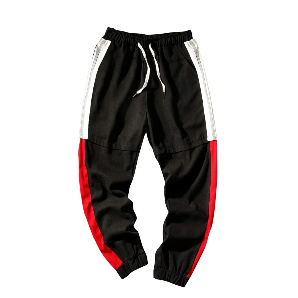 Feidaeu Pantalones de Ocio para Hombre Primavera Otoño Color a ...