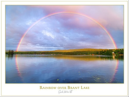 Adirondack Print, Rainbow over Brant Lake, NY by Carl Heilman II, 18