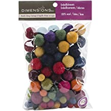 Dimensions Crafts 72-74014 Wool Ball Assortment for Needle Felting