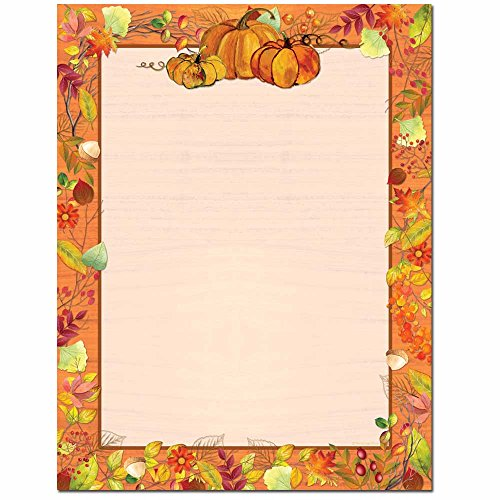 Pretty Pumpkins Letterhead Laser & Inkjet Printer Paper, 25pk (Pretty Pumpkin)