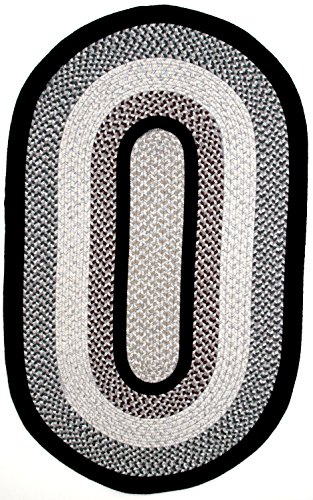 Thorndike Mills GM-10-11 Green Mountain Braided Rugs 10' x 14' Oval Onyx ()