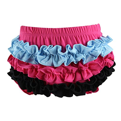 Wennikids Baby Girl's Cotton Shorts and Diaper Cover Bloomers Medium Design 02