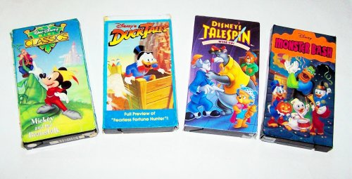 Disney's Ducktales, Talespin & Mickey Video Collection: Monster Bash, Wise Up, Fearless Fortune Hunter, Mickey & the Beanstalk