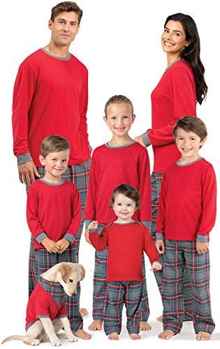 PajamaGram Matching Family Pajamas Plaid - Matching Pajamas, Gray,