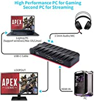 HDMI Capturadora Video Juegos, USB C HD Game Capture For PS4,PS3 ...