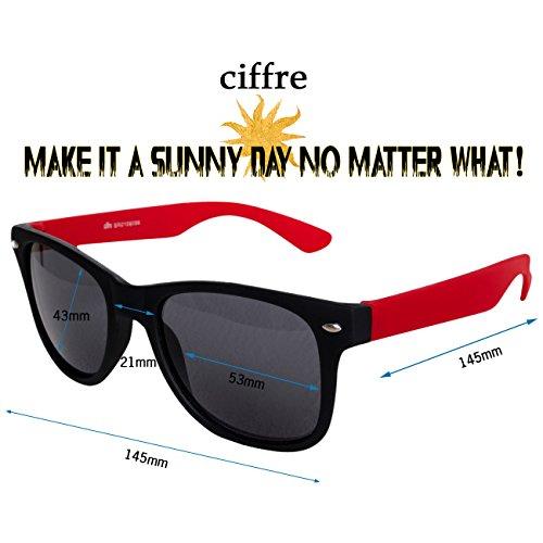 style de disponibles Schwarz modèles Multicolore et soleil 80 lunettes aviateur style Rot de paire Matt Nerd lunettes env coloris style clear wayfarer vintage différents HqwExFz