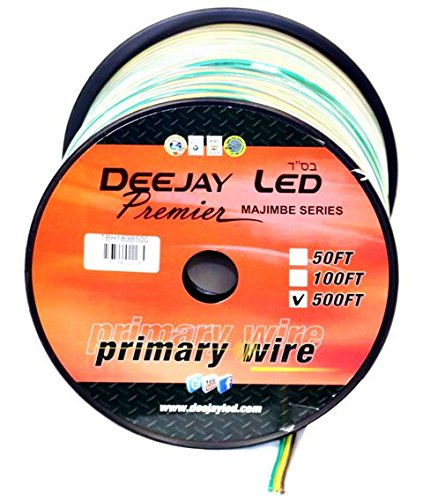 DEEJAY LED TBH183B500 18Ga 500'Y/B/G Primary Wire by Deejay LED