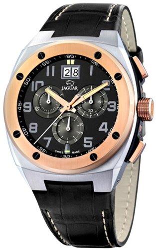 Jaguar J625/D - Reloj de pulsera de hombre, correa de piel color negro: Amazon.es: Relojes