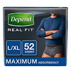 Depend Real Fit Incontinence Briefs take their cues from your lifestyle and your needs. Now more breathable than ever, Depend Real Fit has the same trusted protection with maximum absorbency in a comfortable, soft fabric brief. The premium, m...
