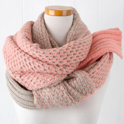 Express Gear Womens Girl (Essential Shawls Scarves,FuzzyGreen Fashion Accessory Candy Color Super Long Double-side Thick Winter Warm Scarf Shawl for Women Girls(Pink Beige))