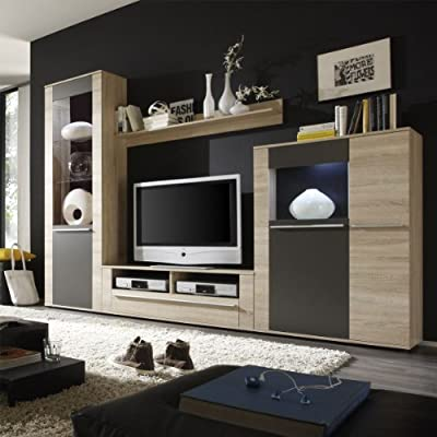 Easyfurn Tv Meubel.7 7 6 1736 German Running Tv Furniture Wall Unit