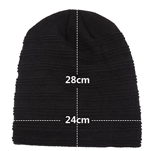 Outdoor Lined Solid Thick Gorra De Unisexo Hat punto Beanie color Warm Invierno Coffee Simple Zhuhaitf Baggy Slouchy Adult qZYHYwt