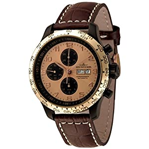 Zeno-Watch Mens Watch - OS Tachymeter Retro Chrono DD Tachymeter - 8557TVDDT-BRG-d6