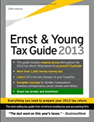 File your taxes with the help of a proven leader If you wish to personally prepare your 2012 federal tax return, but seek the guidance of a trusted name in this field, look no further than the Ernst & Young Tax Guide 2013. Drawing from th...