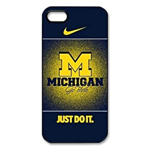 Umich Michigan Wolverines NCAA Iphone 5 5S Cover Case Nike Just Do It Case