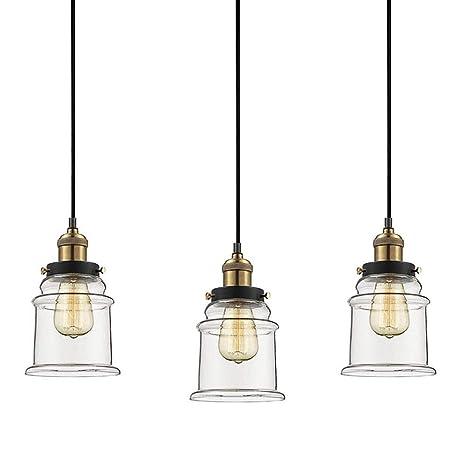 Kiven H Type Track Lighting Industrial Kitchen Pendant Light