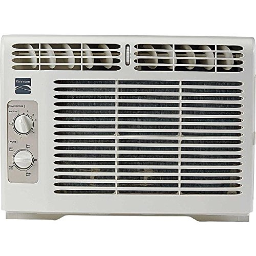 Air Kenmore Conditioning (Kenmore 5 000 BTU Window-Mounted Mini-Compact Air Conditioner - White)
