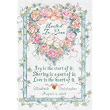 "United In Love Wedding Record Counted Cross Stitch Kit-10""X14"" 18 Count"