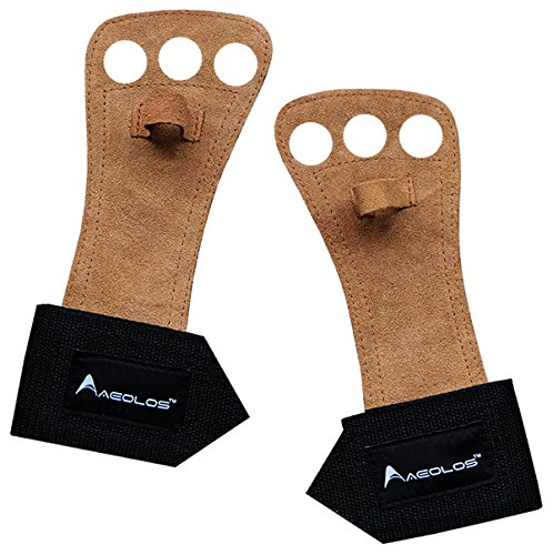 3 Hole Leather Hand Grips by Aeolos