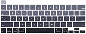 ProElife Ultra Thin Keyboard Cover Skin for 2019 MacBook Pro 16 Inch (Model: A2141) and 2020 MacBook Pro 13 Inch (Model: A2289/A2251) US Layout Protector (Ombre Gray)