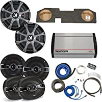 Kicker for Dodge Ram Quad / Crew Cab 02-15 Dual 12 CompRT subs in box, KS Speakers, 800 Watt KX Amp, Grilles & Wire Kit