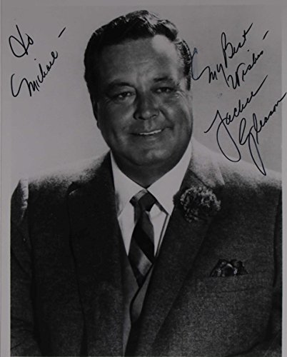 (Jackie Gleason (d. 1987) Signed Autographed Vintage Glossy 7x9 Photo - COA Matching Holograms)