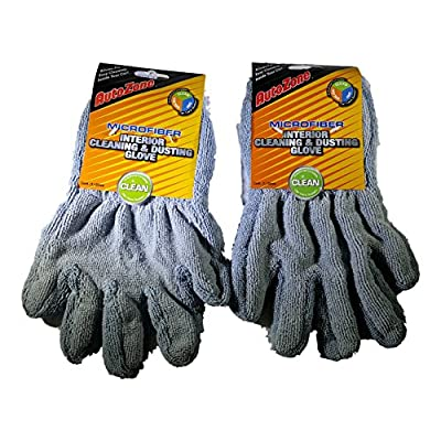 Autozone Microfiber Interior Cleaning Dusting Glove Complete Car Care System - Bundle of 2: Automotive
